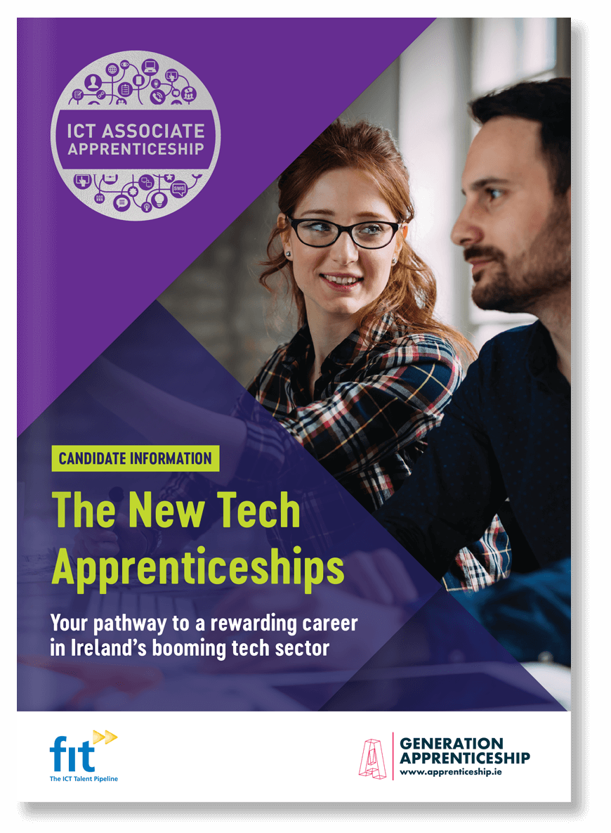 The New Tech Apprenticeships candidates brochure cover