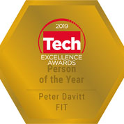 Badge for FIT CEO Named Person of the Year at Tech Excellence Awards