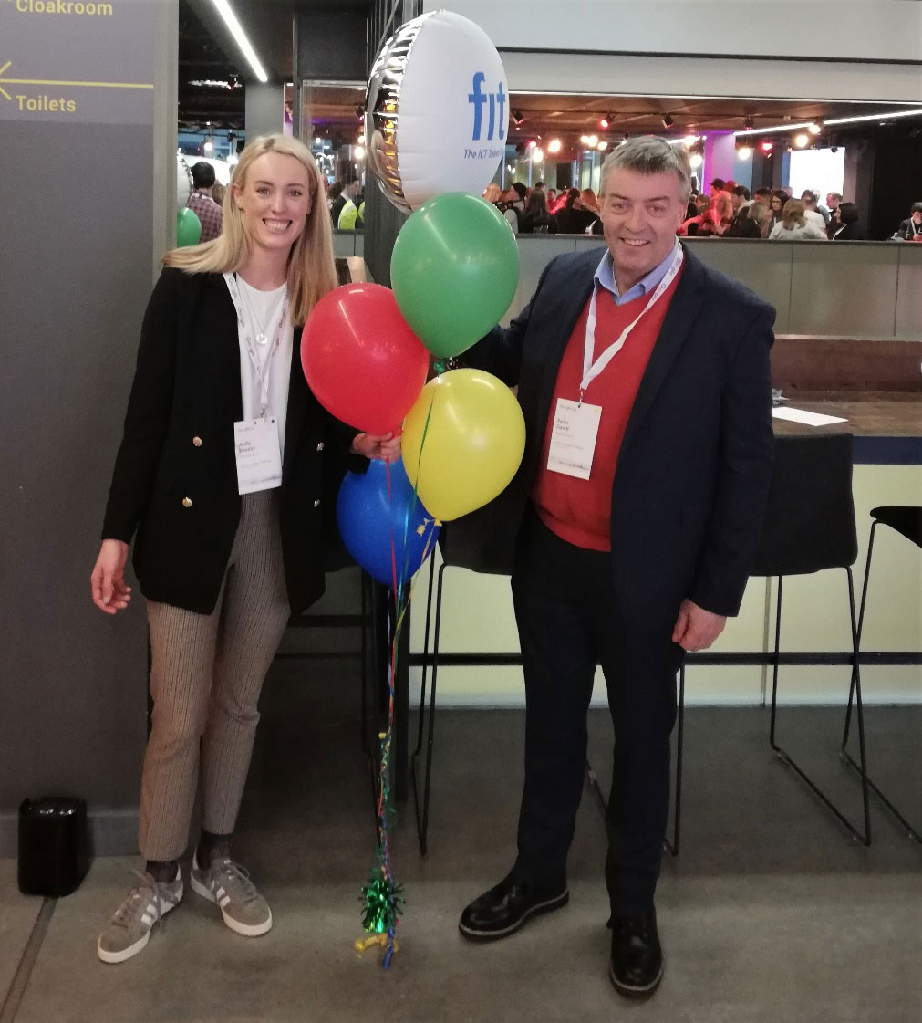 Peter Davitt and Aoife Sheehy of FIT at Google Impact Challenge